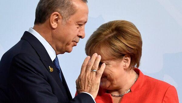 Almanya Başbakanı Angela Merkel - Cumhurbaşkanı Recep Tayyip Erdoğan - Sputnik Türkiye