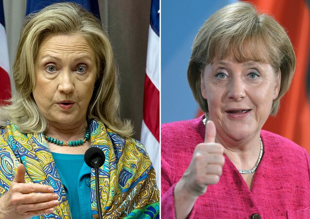 Hillary Clinton ve Angela Merkel