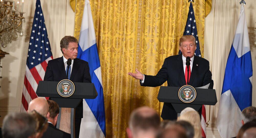 ABD Başkanı Donald Trump, Finlandiya Cumhurbaşkanı Sauli Niinistö