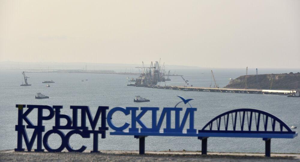 Rusya'yı Kerç Boğazı üzerinden Kırım'a bağlayacak Kerç Köprüsü (Kırım Köprüsü)