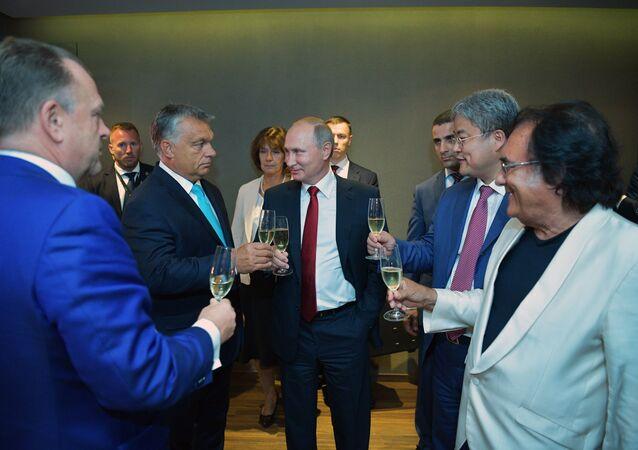 Rusya Devlet Başkanı Vladimir Putin, Macaristan Başbakanı Viktor Orban
