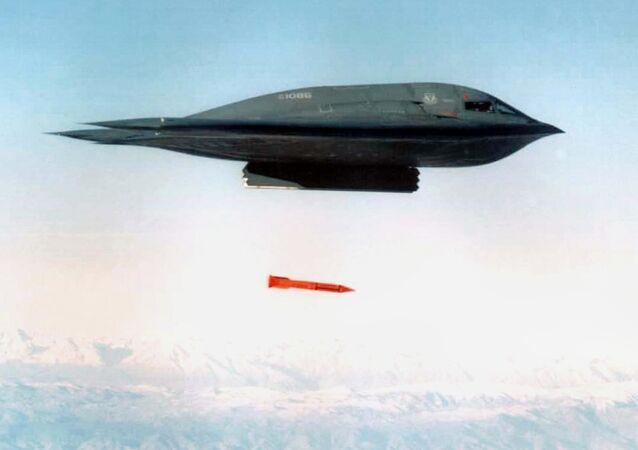 Nükleer silah taşıma kapasiteli B-2 Spirit 'hayalet' uçakları