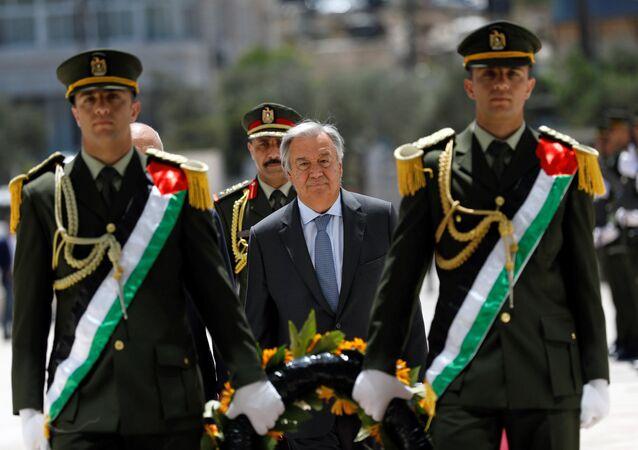 BM Genel Sekreteri Antonio Guterres, Ramallah'ta