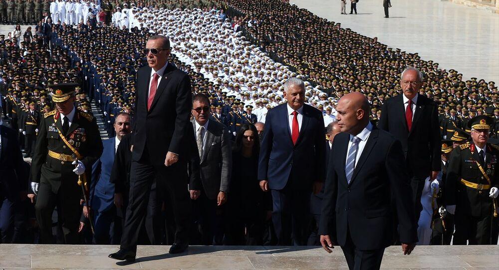 Cumhurbaşkanı Recep Tayyip Erdoğan, Başbakan Binali Yıldırım, CHP Genel Başkanı Kemal Kılıçdaroğlu - 30 Ağustos - Anıtkabir