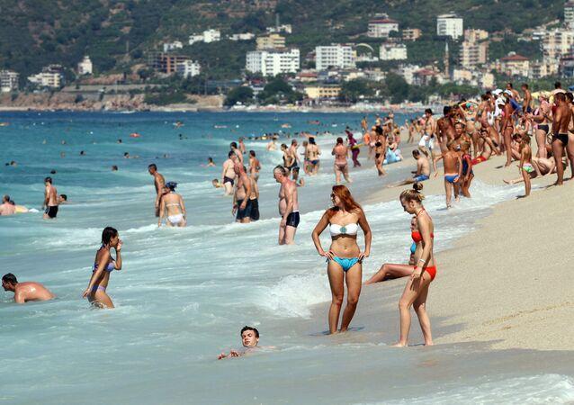 Plaj, turist, deniz, sahil