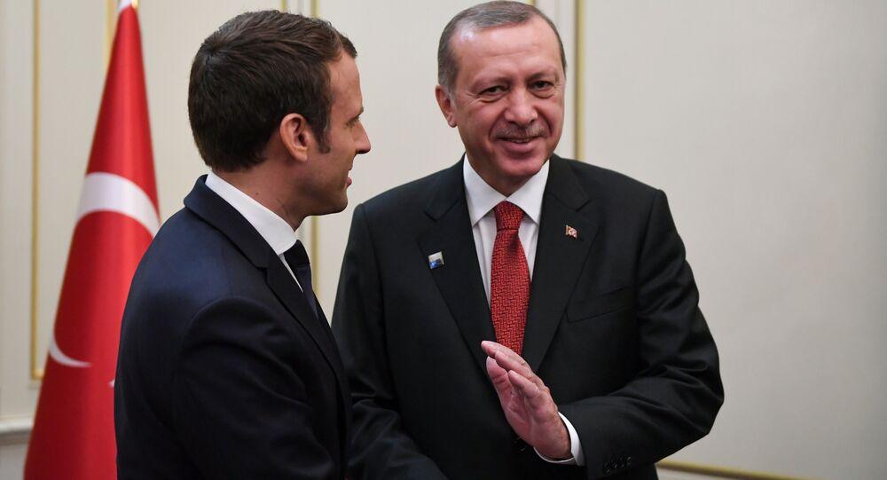 Fransa Cumhurbaşkanı Emmanuel Macron- Türkiye Cumhurbaşkanı Recep Tayyip Erdoğan