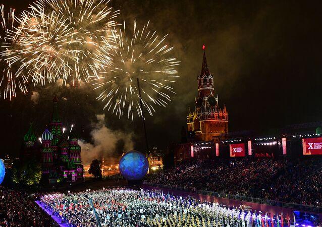 10. Spasskaya Kulesi Festivali'nin kapanış töreni, Moskova.