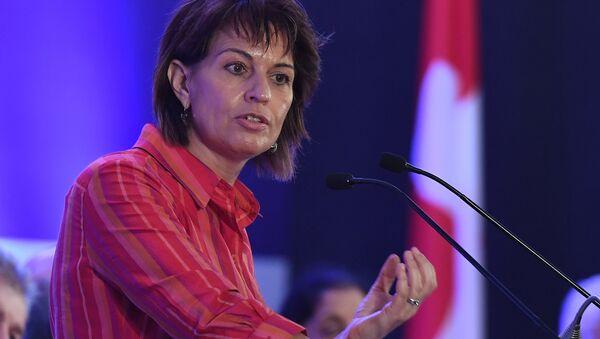 İsviçre Konfederasyon Başkanı Doris Leuthard, - Sputnik Türkiye