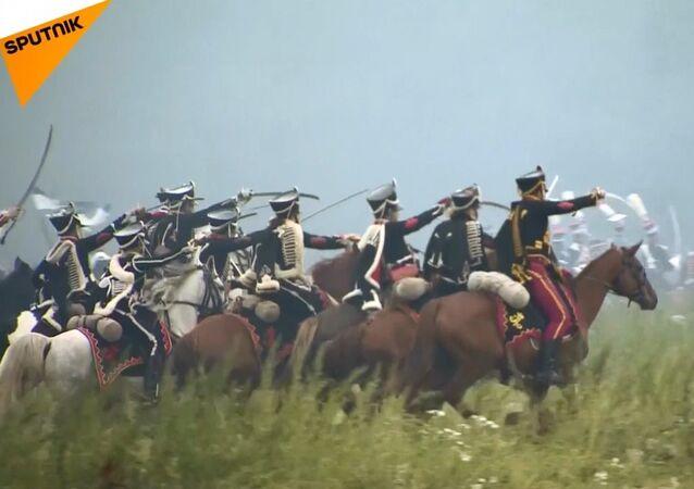 Moskova bölgesi, Borodino Muharebesi'ne tekrar sahne oldu