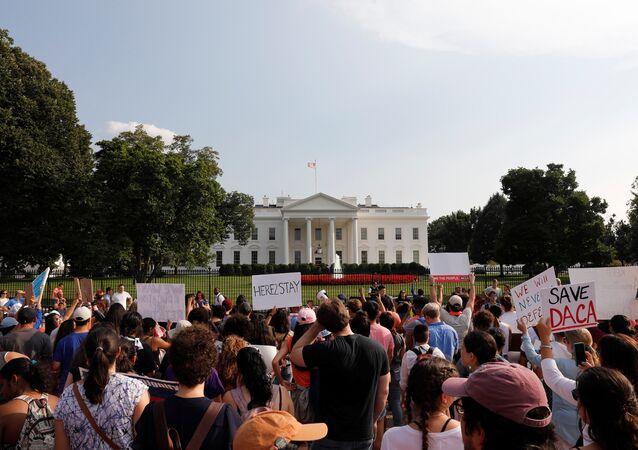 Beyaz Saray önünde DACA protestosu
