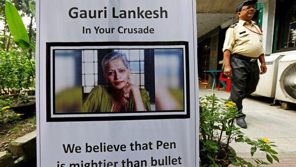 Gauri Lankesh-öldürülen gazeteci - Sputnik Türkiye