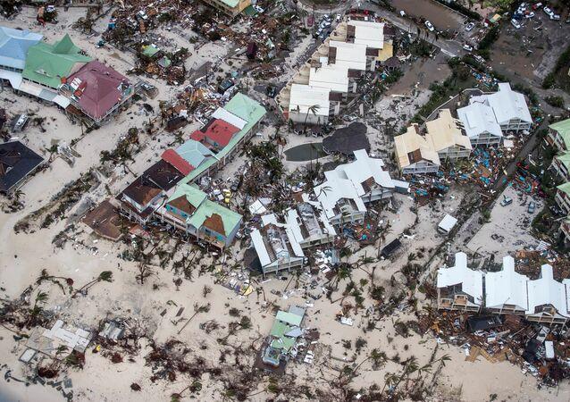 Irma kasırgası, St. Martin adası, Karayipler