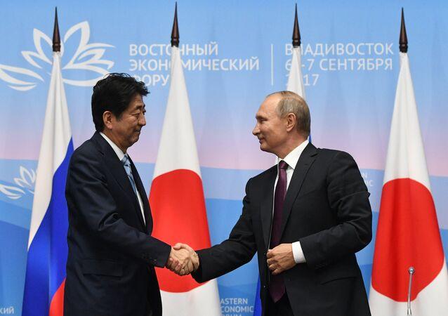 Japonya Başbakanı Şinzo Abe- Rusya Devlet Başkanı Vladimir Putin