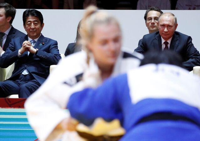 Japonya Başbakanı Şinzo Abe, Rusya Devlet Başkanı Vladimir Putin