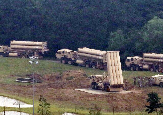 Güney Kore'de kurulan THAAD sistemleri
