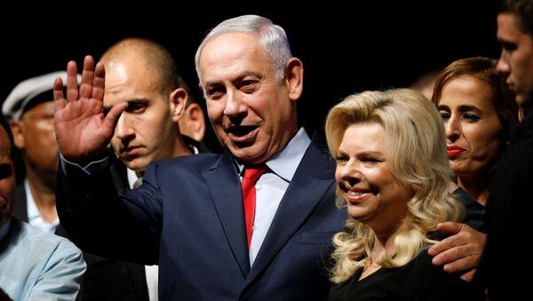 İsrail Başbakanı Benyamin Netanyahu ve eşi Sara Netanyahu - Sputnik Türkiye
