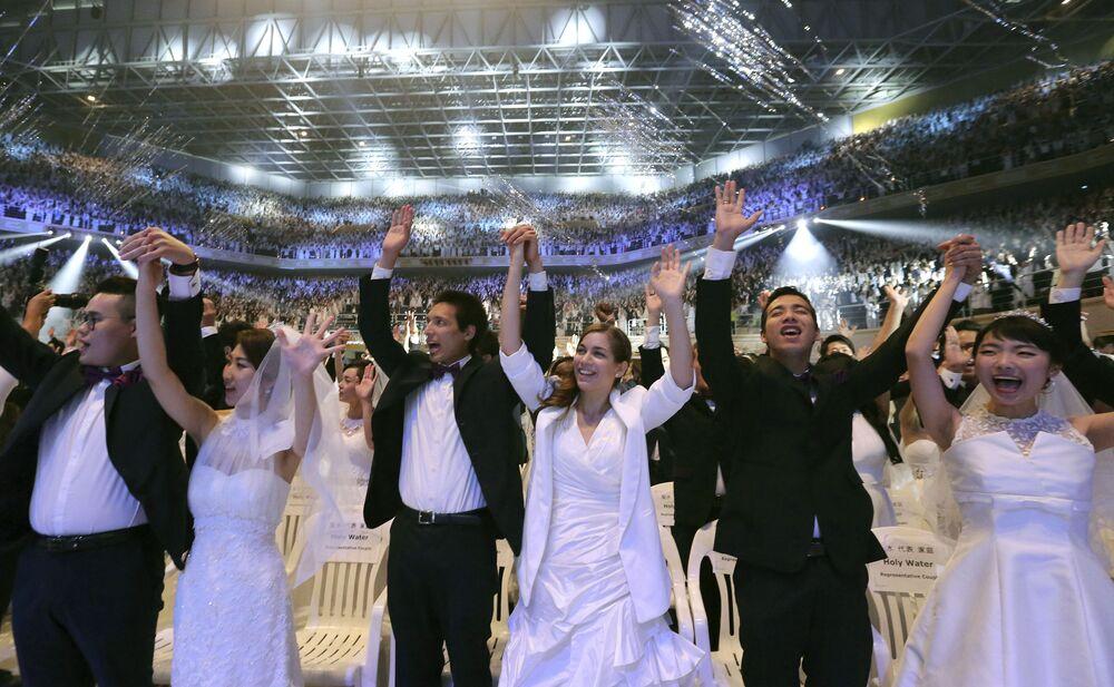 Güney Kore'de 4 bin çiftlik  toplu düğün