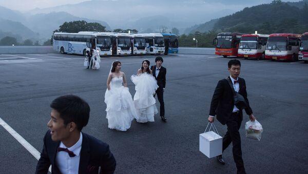 Güney Kore'de 4 bin çiftlik  toplu düğün - Sputnik Türkiye