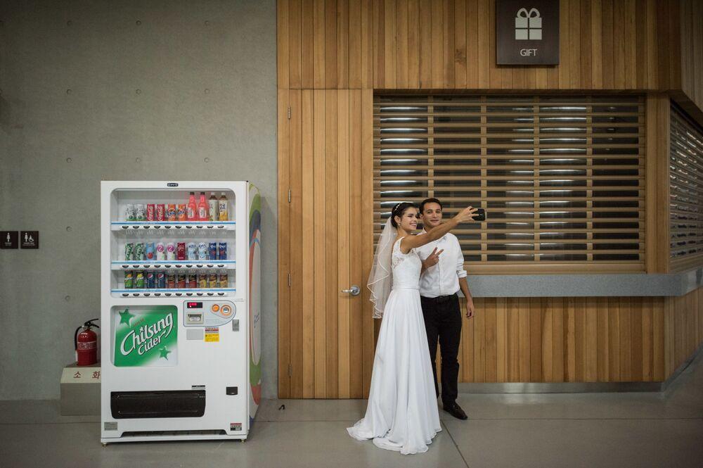 Güney Kore'de toplu düğün töreni