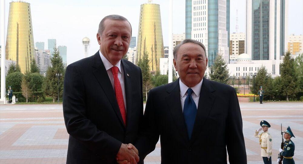 Cumhurbaşkanı Recep Tayyip Erdoğa, Kazakistan Cumhurbaşkanı Nursultan Nazarbayev
