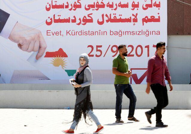 Kerkük'te IKBY bağımsızlık referandumu afişleri