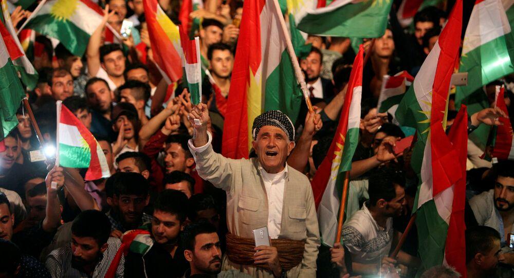 IKBY bağımsızlık referandumuna destek için Erbil'de düzenlenen miting