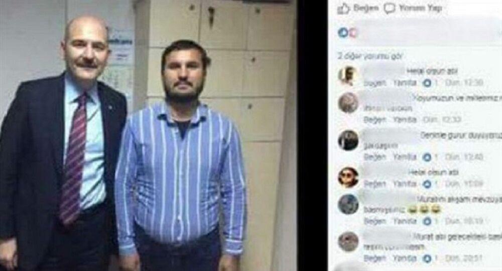 Aysel Tuğluk'un annesinin cenazesine saldıran bir kişinin, Bakan Süleyman Soylu ile çektirdiği fotoğraf ortaya çıktı.