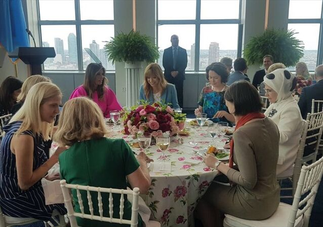 Emine Erdoğan, Melania Trump'ın BM'nin ABD Daimi Temsilciliği'nde verdiği öğle yemeği davetine katıldı
