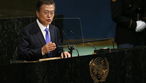 Güney Kore Devlet Başkanı Moon Jae-in - Sputnik Türkiye
