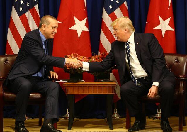 Cumhurbaşkanı Recep Tayyip Erdoğan ve ABD Başkanı Donald Trump