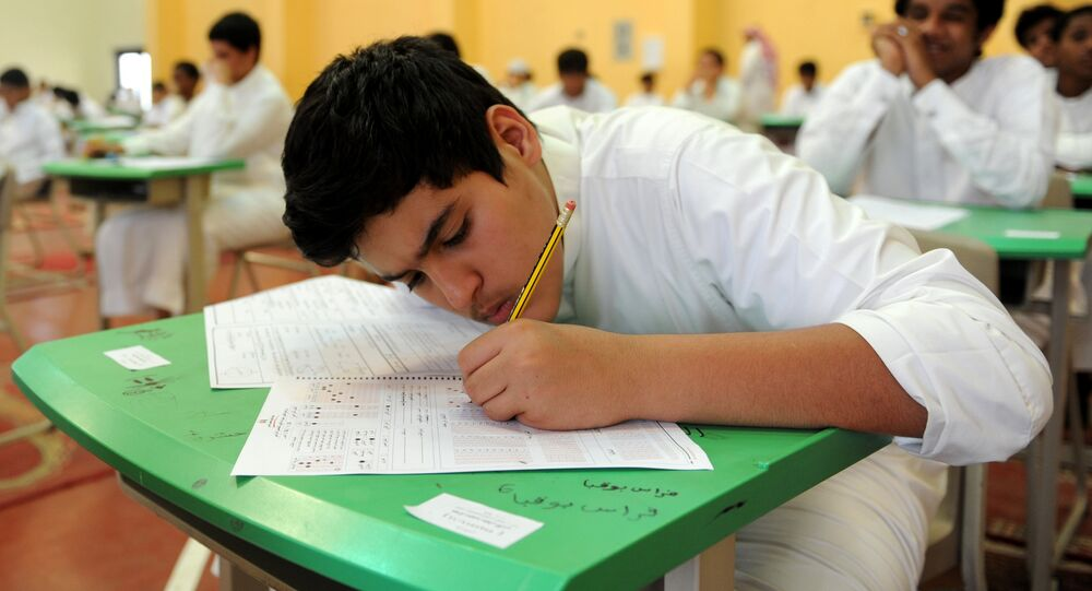 Saudi students sit for their final high school exams in the Red Sea port city of Jeddah. (File)