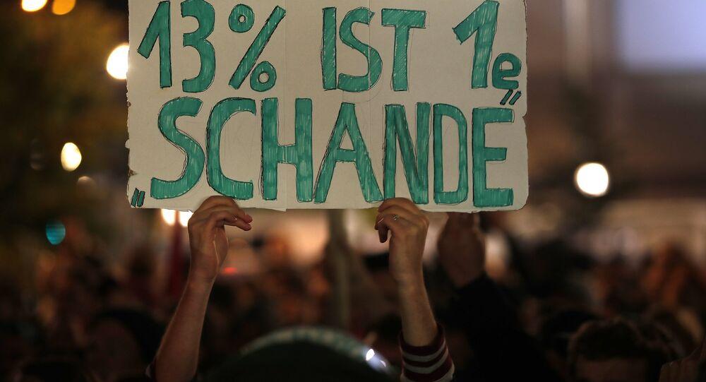 Almanya'da AfD protestosu