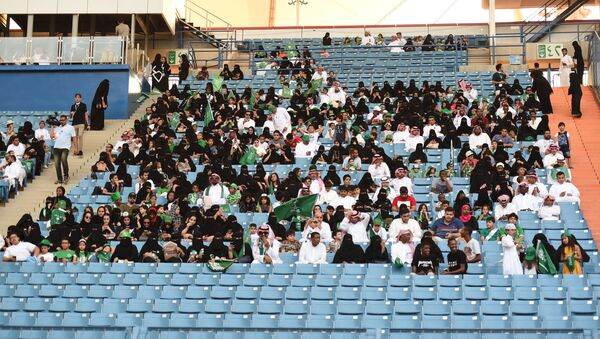 Suudi Arabistan'da kadınlar stadyuma alındı - Sputnik Türkiye
