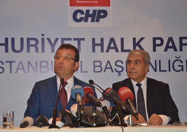 CHP İBB Başkan adayı Ekrem İmamoğlu- CHP İstanbul İl Başkanı Cemal Canpolat