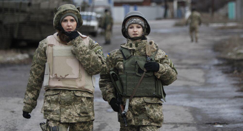 Ukraynalı kadın askerler