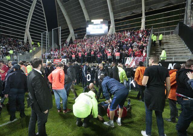 Fransa Ligi'nde Amiens ile Lille maçı