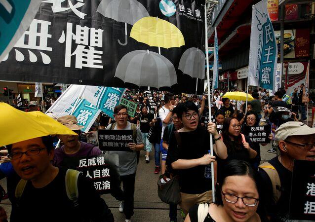 Hong Kong'da bağımsızlık yanlıları gösteri düzenledi