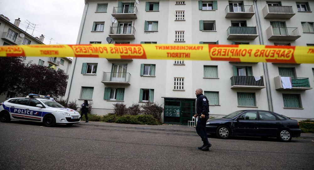 Fransa'nın Mulhouse kentinde yangın