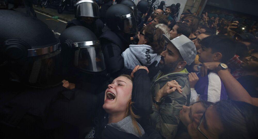 Katalonya'da Bağımsızlık referandumu çatışmaları