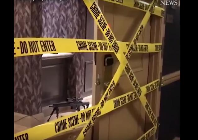 Las Vegas'taki saldırının gerçekleştiği odadan görüntüler
