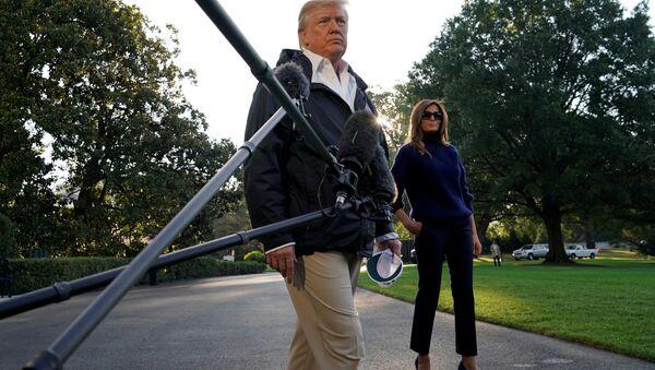 ABD Başkanı Donald Trump- First Lady Melania Trump - Sputnik Türkiye