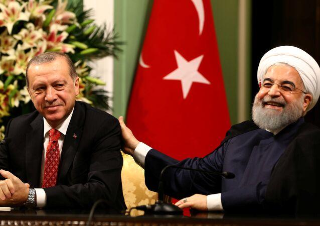Cumhurbaşkanı Recep Tayyip Erdoğan- İran Cumhurbaşkanı Hasan Ruhani