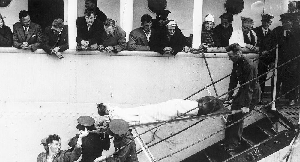 Almanya'nın batırdığı İngiliz 'Athenia' transatlantiğinde yaralanan bir kişi