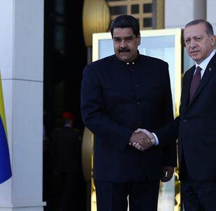 Cumhurbaşkanı Recep Tayyip Erdoğan, Venezüella Devlet Başkanı Nicolas Maduro