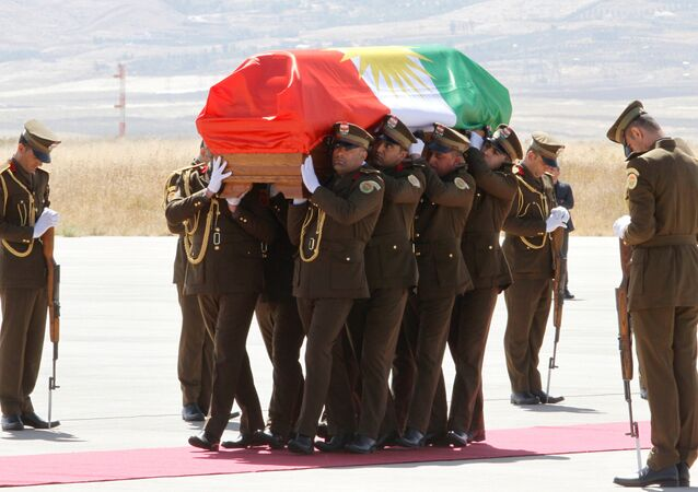 Eski Irak Cumhurbaşkanı ve Kürdistan Yurtseverler Birliği (KYB) Genel Sekreteri Celal Talabani