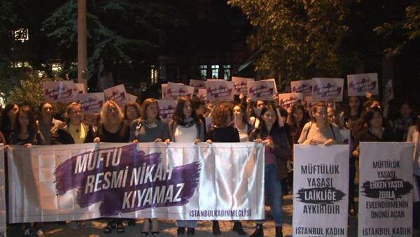 Kadınlardan 'Müftülük Yasası Geri Çekilsin' eylemi - Sputnik Türkiye