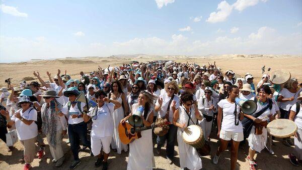 Filistinli ve İsrailli kadınlar, 'barış' için birlikte yürüdü - Sputnik Türkiye