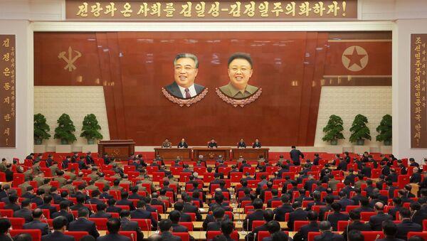 Kuzey Kore İşçi Partisi Merkez Komite Toplantısı - Sputnik Türkiye