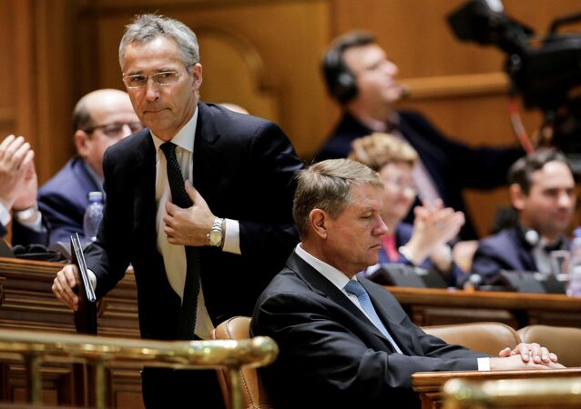 NATO Genel Sekreteri Jens Stoltenberg, Romanya Cumhurbaşkanı Klaus Iohannis