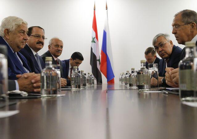 Suriye Dışişleri Bakanı Velid Muallim- Rusya Dışişleri Bakanı Sergey Lavrov